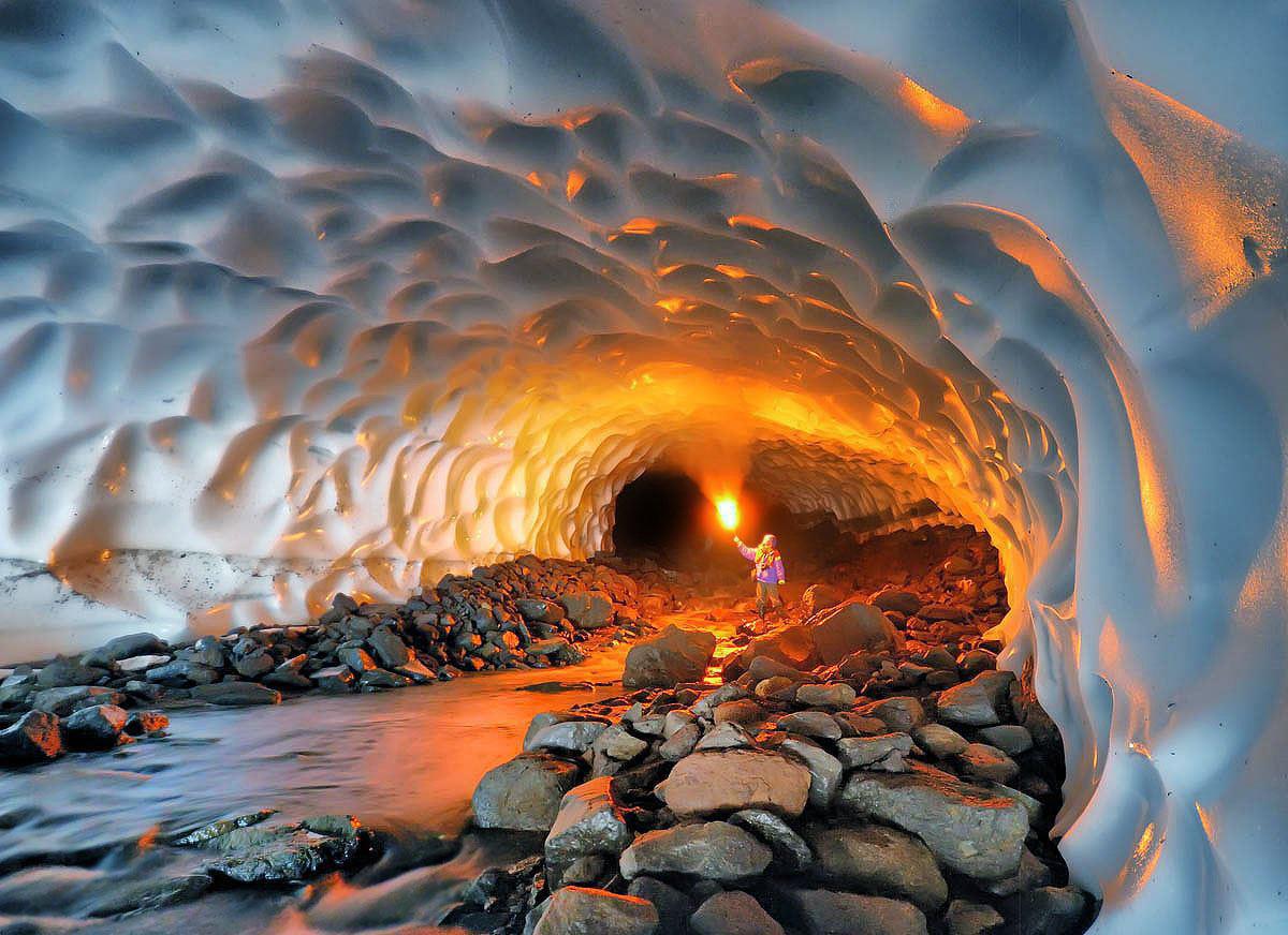 The Ice Cave - Mutnovsky Volcano, Russia