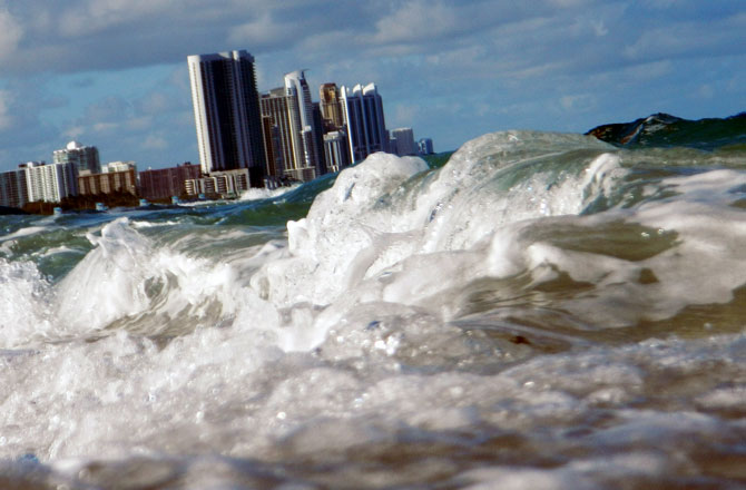 A minor rise in the sea level could dramatically change the United States