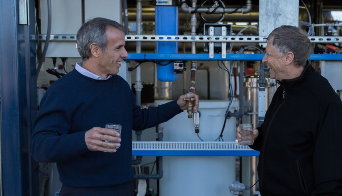 Bill Gates created a machine that turns human waste into drinkable water