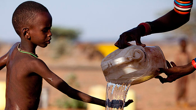 The average Sub-Saharan African resident uses 3 gallons of water per day.