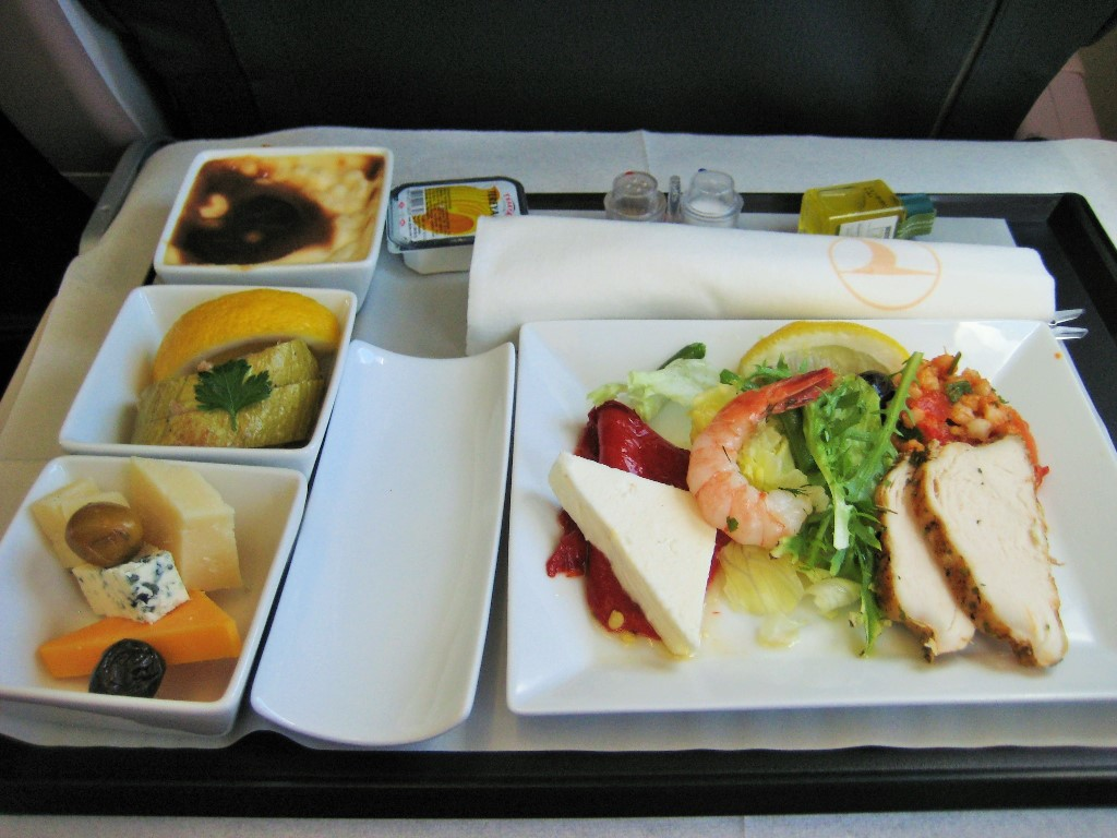 In flight food is starting to really turn around
