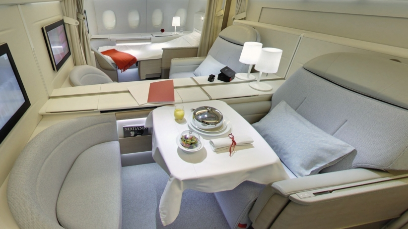 Flying can be a lesson in luxury