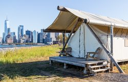 Glamping With A City View