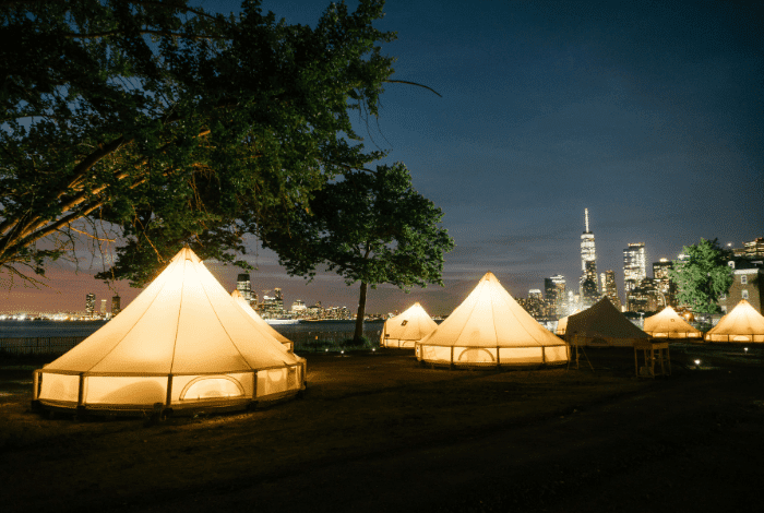 Nighttime At The Glamping Grounds